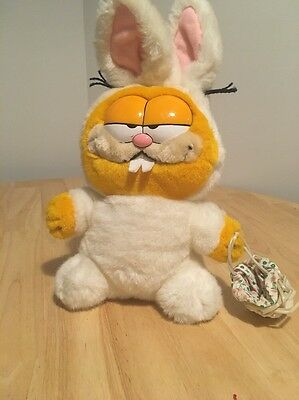 vintage garfield soft toy plush 1979 1981 Easter Bunny Easter Garfield Retro