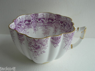 Nice Antique Wileman Pre Shelley Purple Paradise Daisy Shape Cup Pattern 6238