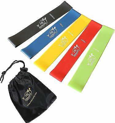 5PCS Resistance Loop Bands Gym Yoga Bands Workout Fitness Training Strength