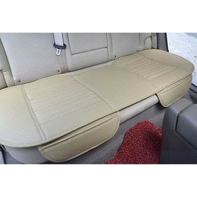 Car Rear Seat Cover Bamboo Breathable PU Leather Pad Mat for Auto Chair Cushion