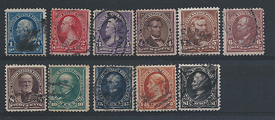 Usa 1895 Set To $1 All Sound Used Sg 266/279 Cat £210
