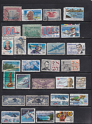 USA - Airmail  Stamp Selection  2 SCANS (USA29052)