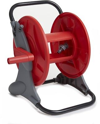 Hose Reel Cart Garden Pipe Free Standing Wall Watering Holder Water Outdoor Red