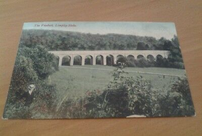 The Viaduct Limpley Stoke Coloured Photographic Postcard 1908 Used