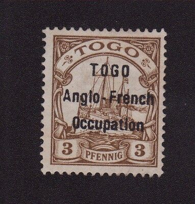 Togo N°30 Surcharge Anglo - French Occupation Nsg