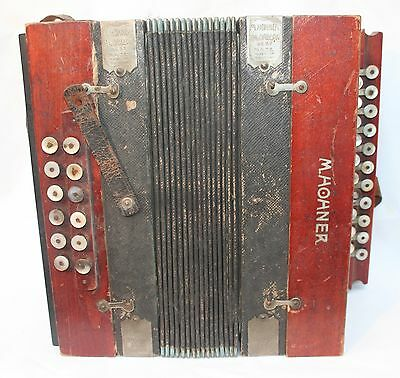 Antique Vintage M.Hohner  21 Button 12 Chord Accordeon Best Made Germany