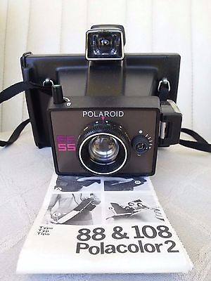 Polaroid Ee 55 Land Camera With Original Box And Instructions