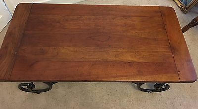 Solid Wood And Wrought Iron Coffee Table