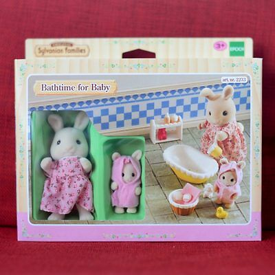 Sylvanian Families BATHTIME FOR BABY RABBIT Epoch UK 2233 Calico Critters