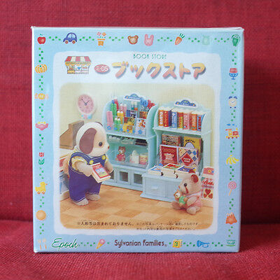 Sylvanian Families BOOK STORE Epoch Japan MI-05 Rare Vintage Calico Critters New