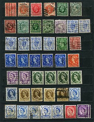 Great Britain, lot of stamps, different periods, used