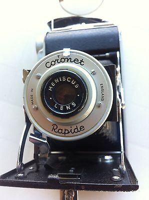 vintage coronet rapide folding 120 roll film camera