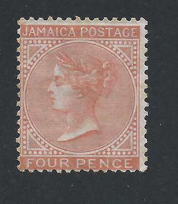 JAMAICA 1870-83 4d RED-ORANGE MM SG 11a CAT £425