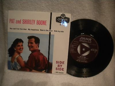 """7"""" Ep Pat And Shirley Boone -- Side By Side"""