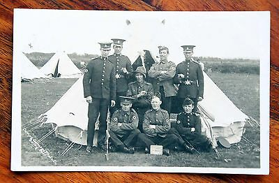 Ww1 Photo Postcard Rp Royal Army Medical Corps Officer's Mess Group Burry Port