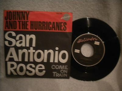 """7"""" Johnny And The Hurricanes -- San Antonio Rose / Come On Train"""