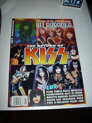 Kiss-Hit Parader Magazine'the Return Of Kiss' Vintage Kiss Ace Frehley