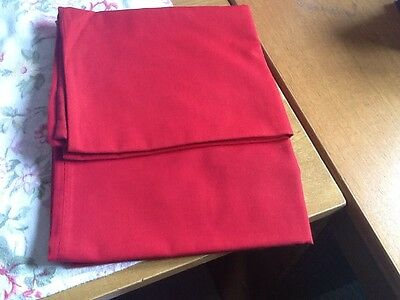 2 Red Pillow Cases - Vgc