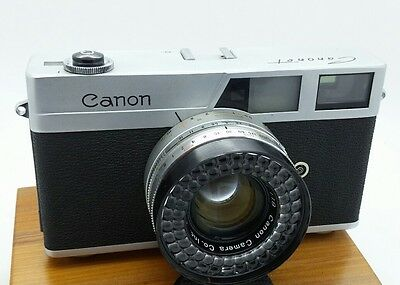 Vintage Canon Canonet 35mm rangefinder camera w/Leather case Works well
