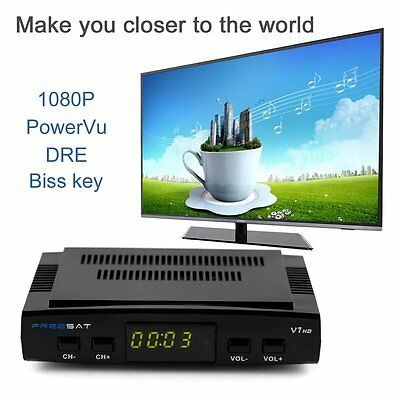Freesat V7 DVB-S2 HD 1080P Satellite Receiver Receptor Decoder + USB WIFI FE