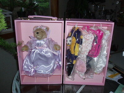 """Madame Teddy  Wardrobe Trunk Carry Case for 10"""" Doll+Clothes+Accessories"""