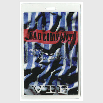 Bad Company authentic 1995 Laminated Backstage Pass Company of Strangers Tour