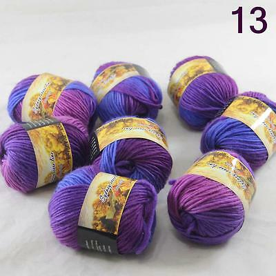 Sale Lot of 8 Balls NEW Knitting Yarn Chunky Hand-woven Colorful Wool scarves 13