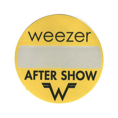 Weezer authentic 2001 Green Album Tour satin cloth Backstage Pass after show