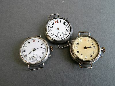 WW1 trench watches for repair or spares