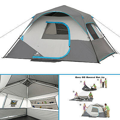 Ozark Trail 6 Person Instant Cabin Tent Family Camping Shelter Hiking Hunting