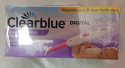 Clearblue Digital Ovulation Testing Kit Pack of 20 (Pink)