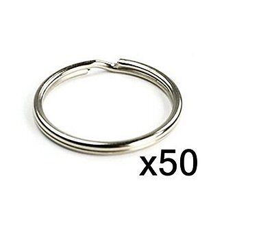 50pcs 25MM Split Key Chain Ring Connector Craft Keychain with Nickel Plated