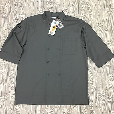 NEW Color By Chef Works Coat Men's L 3/4 Sleeve Uniform Light Weight Kitchen