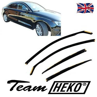 DAU10255 AUDI A3  8V  Limousine Saloon 2012-up WIND DEFLECTORS 4pc HEKO TINTED