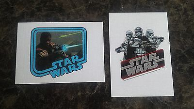 Topps Journey To Star Wars:the Force Awakens 2 Cloth Sticker Cards