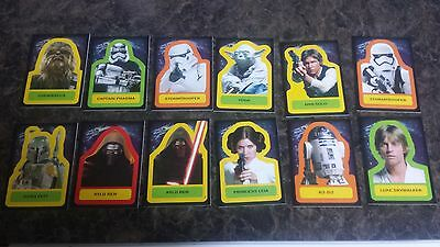 Topps Journey To Star Wars:the Force Awakens Sticker Cards X 11