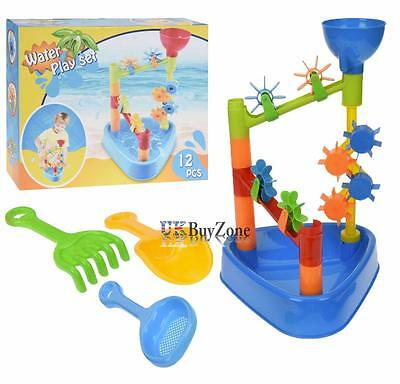 Sand and Water Table & Mill Set Water Slides Garden Sandpit Beach Toys Play Set