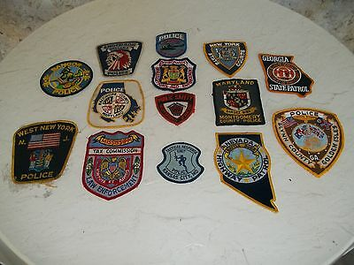Collectible Lot Of 14 Various State Police Shoulder Patches