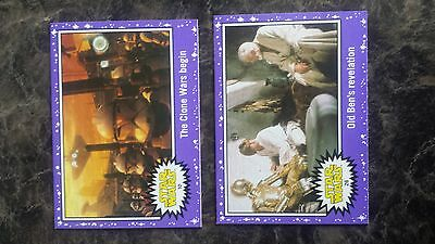Topps Journey To Star Wars:the Force Awakens Purple Parallel Lot Of 2
