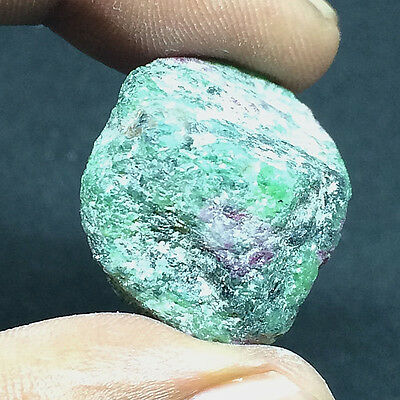 56 Ct Natural Untreated African Greenish Red Ruby Zoisite Gemstone Rough #A-148