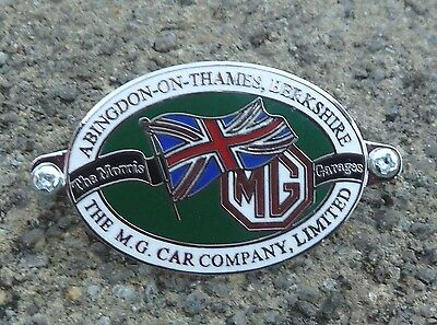 Mg Abingdon On Thames Dash Plaque / Badge  Mga Mgb Mgc Tc Tf Midget Roadster Mgf