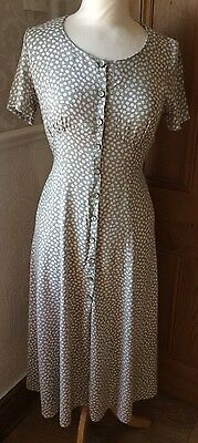 Vintage St Michael Daisy Print Tea Dress Size 10 Petite