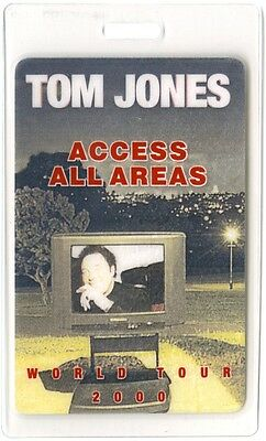 Tom Jones authentic 2000 concert tour Laminated Backstage Pass ALL ACCESS otto