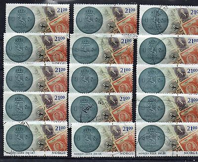 NORWEGIAN : 2016 NORGES BANK 200 AR  Fine Used Set ( ONE VALUE SET )( 21 KRONA)