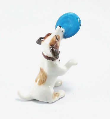 """Jack Russell Terrier Playing Frisbee Dog Figurines Animal Statue Ceramic Size 2"""""""