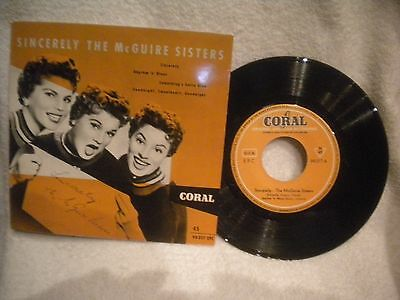 """7"""" EP THE McGUIRE SISTERS -- SINCERELY"""