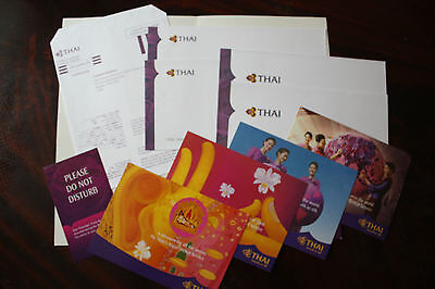 Airline Issue Postcard Do Not Disturb Writing Paper Stationary Thai Airways