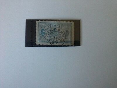 Sweden - Used Official 12 Ore Stamp Issued in 1874