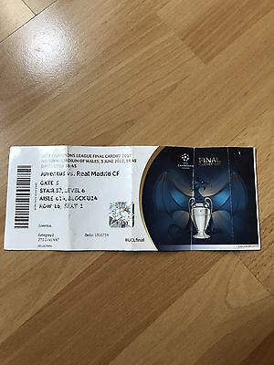 Ticket UEFA Champions League Finale 2017 Real Madrid vs Juventus Turin Teamnames