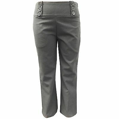 Girls Bootcut School Trousers Kids Grey School Uniform Trousers EX-Chainstore